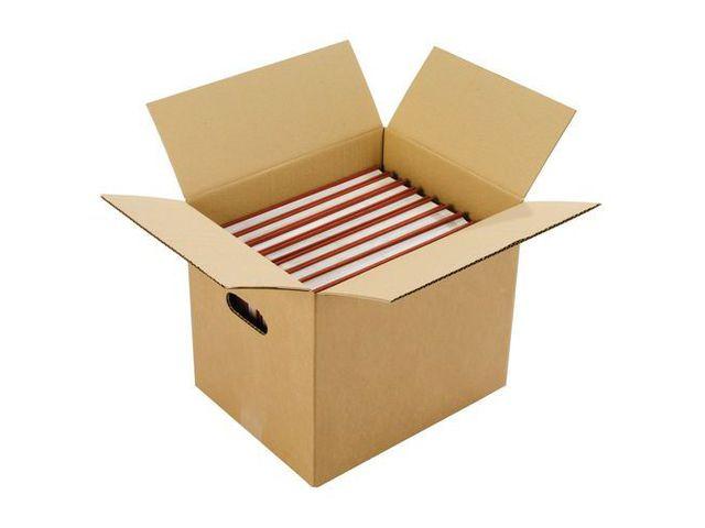 caisse de d m nagement simple cannelure poign e contact manutan. Black Bedroom Furniture Sets. Home Design Ideas