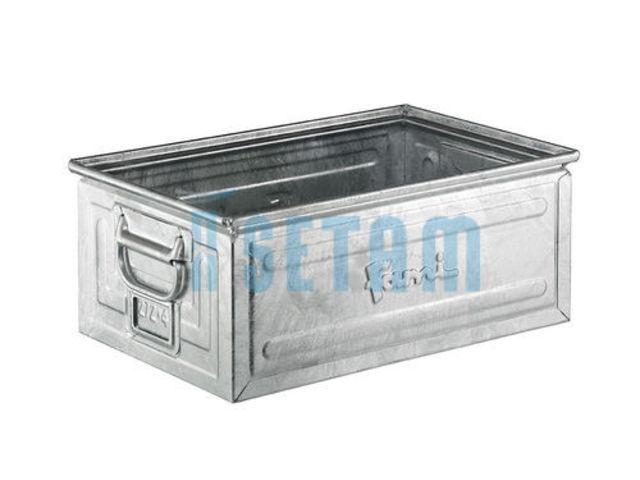 caisse m tal volume 27 litres finition zinc contact. Black Bedroom Furniture Sets. Home Design Ideas