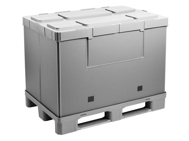 caisse palette bac pliable mega pack hybox 1200 gris contact walther faltsysteme gmbh. Black Bedroom Furniture Sets. Home Design Ideas