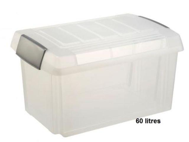 caisse plastique avec couvercle 60 litres contact rangestock