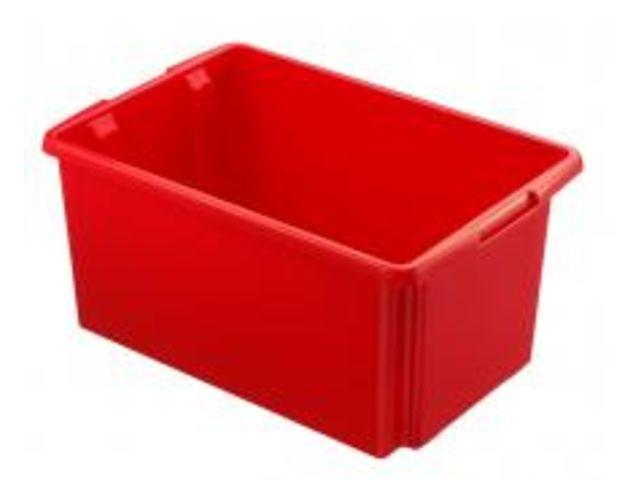 Caisse rangement grand volume rouge 51 litres contact rangestock for Caisse plastique rangement