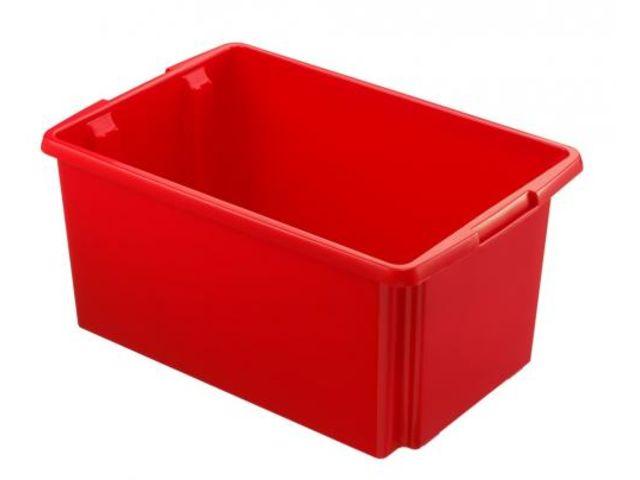 caisse rangement grand volume rouge 51 litres contact rangestock. Black Bedroom Furniture Sets. Home Design Ideas