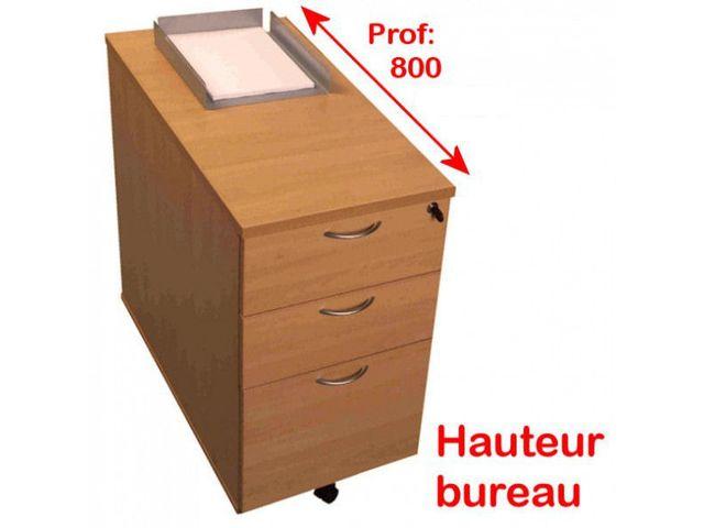 Caisson hauteur de bureau teo 3 tiroirs p800mm contact for Fournisseur bureau pro