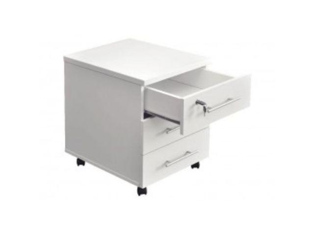 caisson mobile 3 tiroirs blanc contact mon bureau et moi. Black Bedroom Furniture Sets. Home Design Ideas