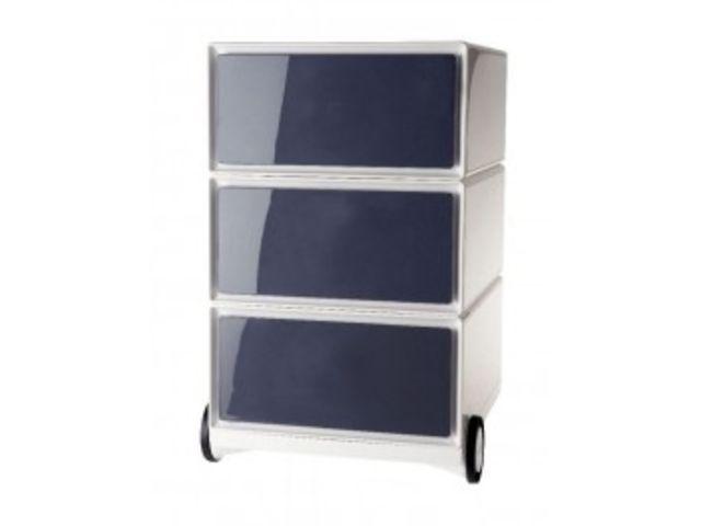 Caisson mobile easy 3 tiroirs noir contact mon bureau et moi