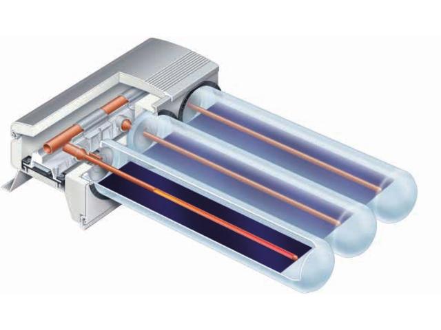 Capteur solaire tubes sous vide vitosol 200 t type spe for Capteur solaire sous vide