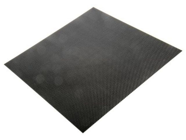 Carbon Fibre Epoxy Sheet, 300x300x1mm