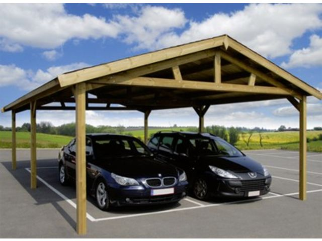 carport 2 pans id207 contact france abris. Black Bedroom Furniture Sets. Home Design Ideas
