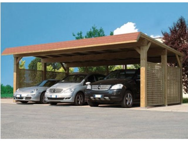 Carport bois contact france abris for Garage auto france