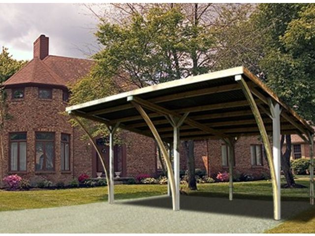carport double avec arcs id571 contact france abris. Black Bedroom Furniture Sets. Home Design Ideas