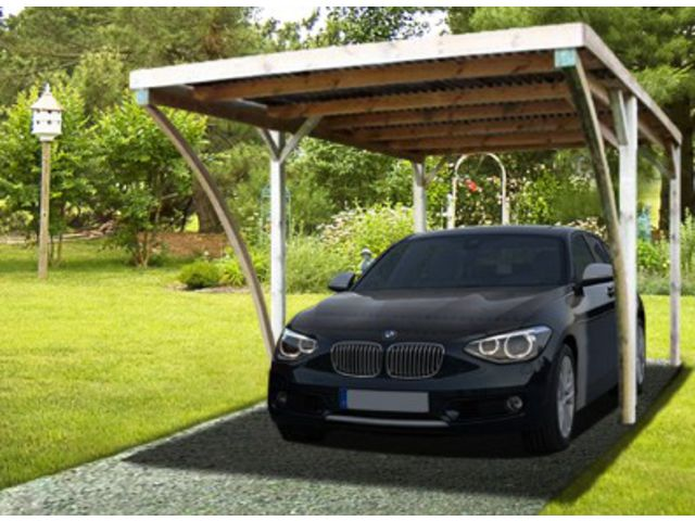 Carport simple toit plat avec arc id572 contact france - Abri voiture toit plat ...
