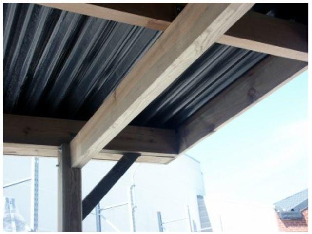 carport simple toit plat avec atelier id573 contact. Black Bedroom Furniture Sets. Home Design Ideas
