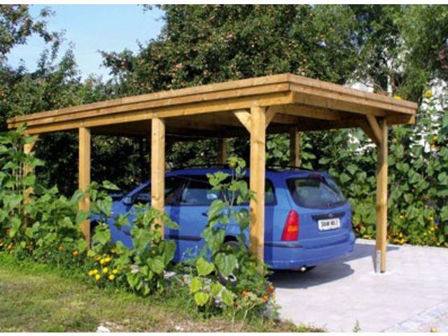 carport simple toit plat id553 contact france abris. Black Bedroom Furniture Sets. Home Design Ideas