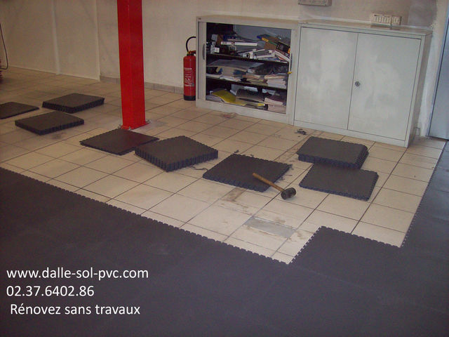 carrelage sol garage contact dalle sol pvc com une activit apara. Black Bedroom Furniture Sets. Home Design Ideas