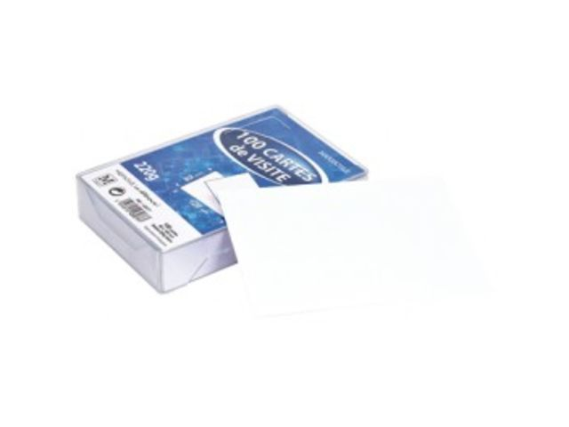 Cartes De Visite Bristol 82 X 128 Blanche 224 Gr Boite 100