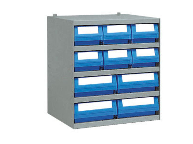 casier 6 bacs tiroirs plastique multibox x mm 4 en mm contact setam. Black Bedroom Furniture Sets. Home Design Ideas