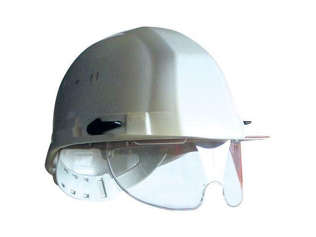 casque de chantier avec lunettes contact virages. Black Bedroom Furniture Sets. Home Design Ideas
