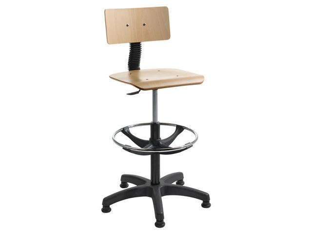 Chaise bois hauteur r glable sur patins avec repose - Chaise avec repose pied ...