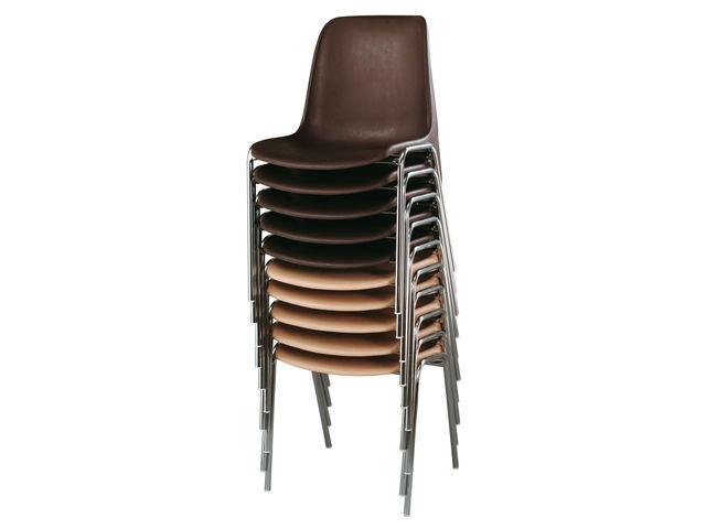 chaise coque pour collectivits coloris beige setam - Chaise Coque