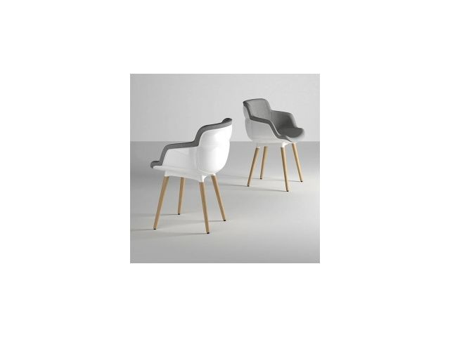 Chaise rembourée Choppy Sleek BL