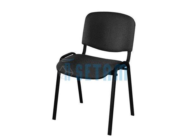 chaise r union empilable avec tissu noir contact setam rayonnage et mobilier professionnel. Black Bedroom Furniture Sets. Home Design Ideas