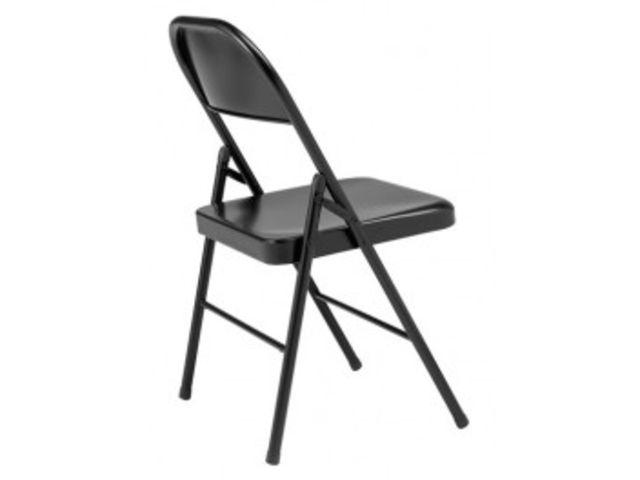 Metal Boston Pliante Chaise Visiteur Noire ARjL435q