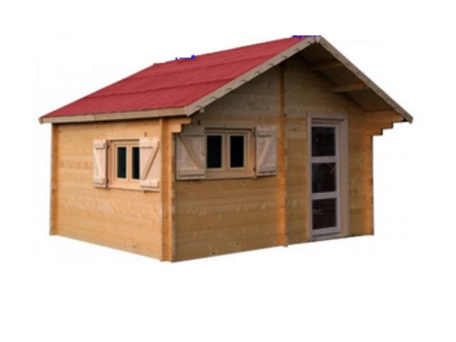 chalet de jardin bois madrier 60mm de cz contact scgi grossiste. Black Bedroom Furniture Sets. Home Design Ideas