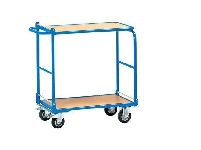 chariot plateaux bois pliable 2 plateaux force 250. Black Bedroom Furniture Sets. Home Design Ideas
