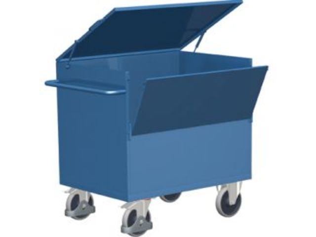 chariot caisse en t le d 39 acier contact equipement shop. Black Bedroom Furniture Sets. Home Design Ideas