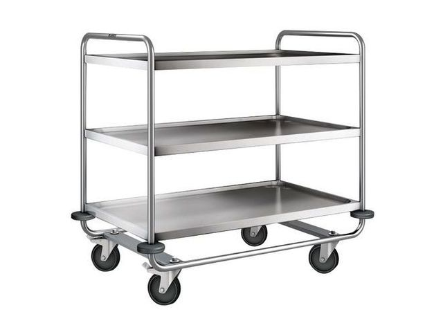 Chariot inox - 3 plateaux - Force 200 kg