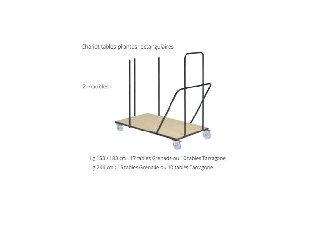 Chariot pour table rectangulaire