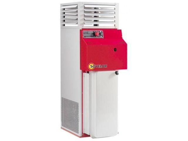 Chauffage air puls fuel fixe vertical 34 8 kw f35 for Chauffage air air avis