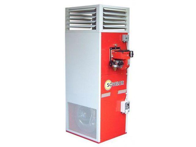 Chauffage air puls fuel fixe vertical 34 8 kw sp35 for Chauffage air air avis