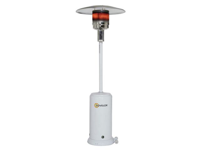 Chauffage parasol au gaz sovelor brasilia blanc contact airchaud diffusion - Chauffage parasol gaz ...