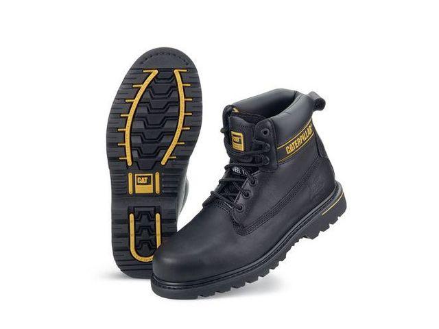 Chaussures de sécurité Caterpillar Holton noirs SB de la marque CATERPILLAR