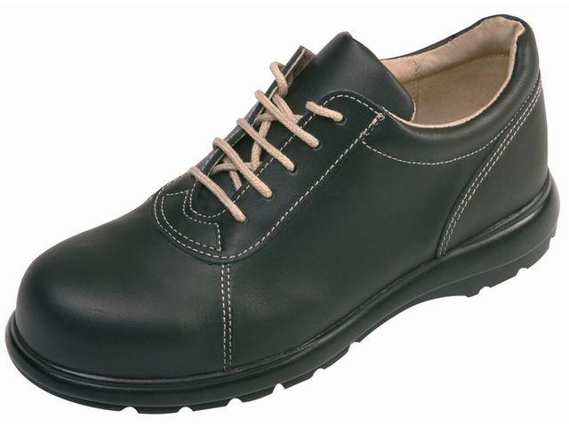 chaussures de sport 7f062 522f9 Chaussures de sécurité femme en cuir, avec embout métallique, classe S2