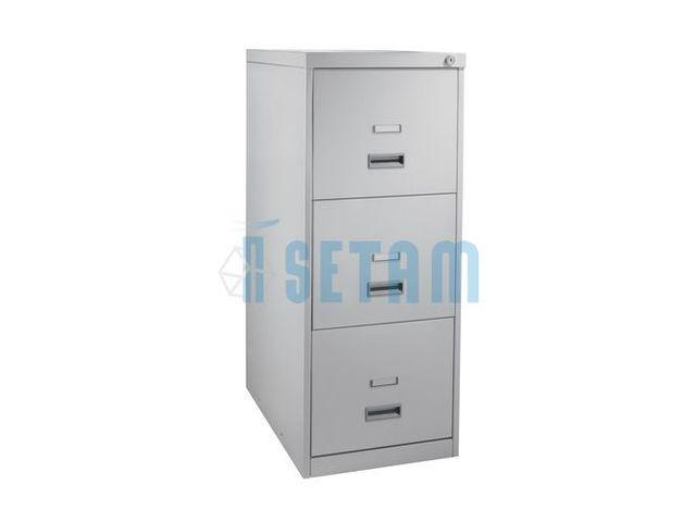 Classeur de bureau 3 tiroirs pour dossiers suspendus - Classeur 2 tiroirs pour dossiers suspendus ...
