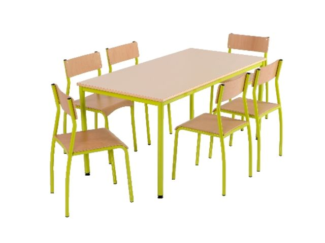Clip table 4 pieds contact manutan collectivites ex camif collectivites - Table camif ...