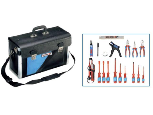 Coffret d 39 outils pour lectricien 18 pi ces 1091 - Caisse a outils electricien complete ...
