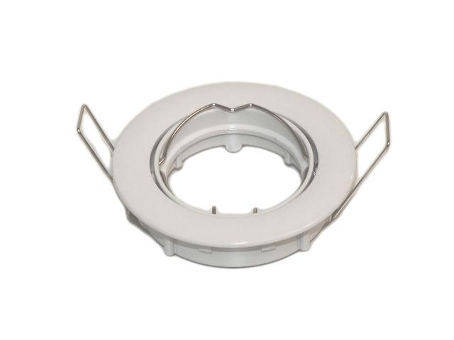 colerette ronde orientable blanche pour ampoule spot led gu10 contact ideled. Black Bedroom Furniture Sets. Home Design Ideas