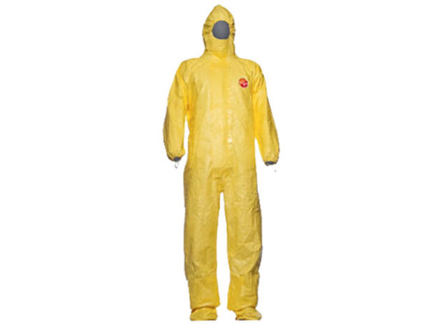 Combinaison de protection Tychem C Cat III Type 3/4/5/6 jaune