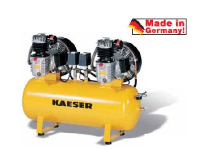 compresseur piston avec deux moto compresseurs contact kaeser compresseurs. Black Bedroom Furniture Sets. Home Design Ideas