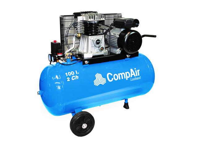 compresseur d 39 air pistons 2 ch 10 bars maxi mono 200v courroie r servoir 100 litres. Black Bedroom Furniture Sets. Home Design Ideas
