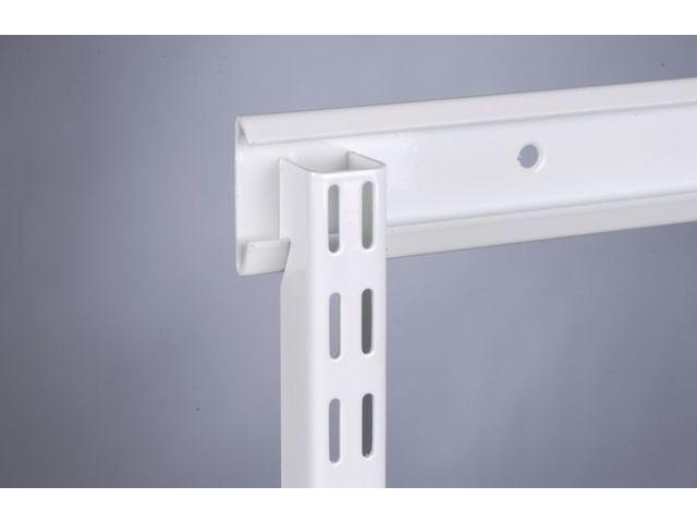 console acier laqu blanc double perforation contact setin. Black Bedroom Furniture Sets. Home Design Ideas