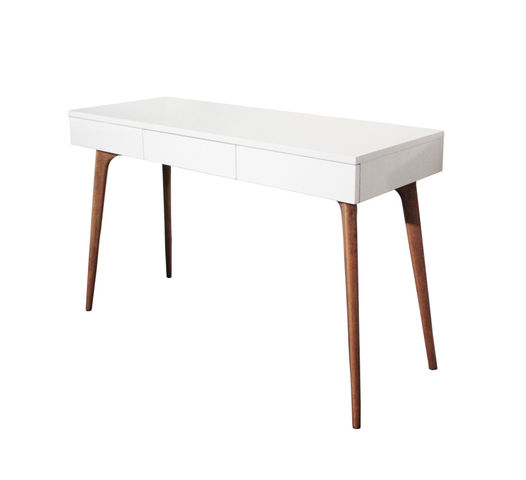 console bureau design natura bois blanc contact sodezign com. Black Bedroom Furniture Sets. Home Design Ideas
