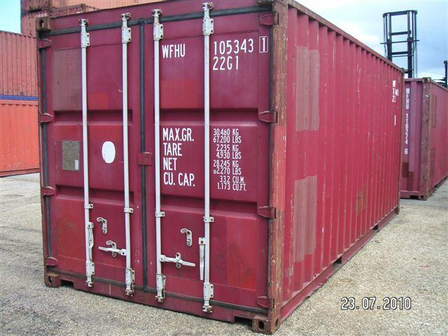 Conteneur 20 39 dv standard contact france container trading - Volume conteneur maritime ...