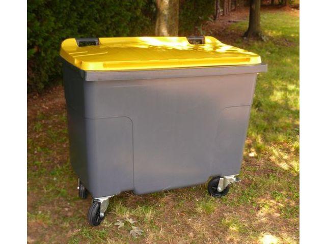 conteneur d chets 500 litres plastic omnium ext rieur 4 roues couleur contact maxiburo. Black Bedroom Furniture Sets. Home Design Ideas