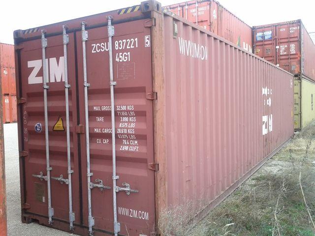 Conteneur container contenair maritime et stockage 40 for Container bois occasion