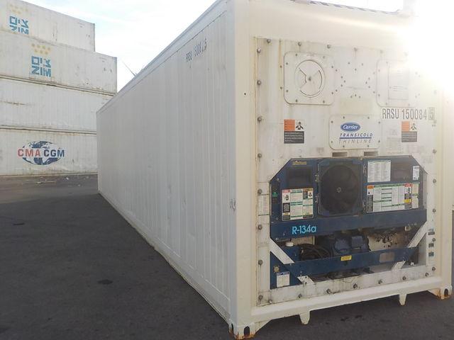 Conteneur Container Contenair Maritime Et Stockage 40 Pieds High Cube Reefer Chambre