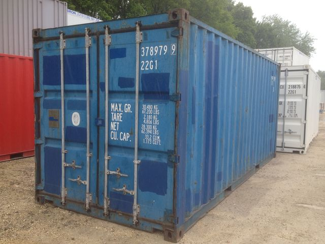 Conteneur ou container 20 pieds maritime d 39 occasion classe for Tarif container occasion